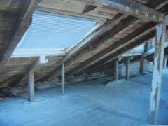 Neubühlauer Straße 2 - Dachboden vor dem Ausbau